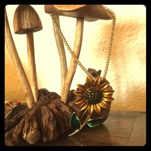 Betsey Johnson Sunflower Necklace/Brooch